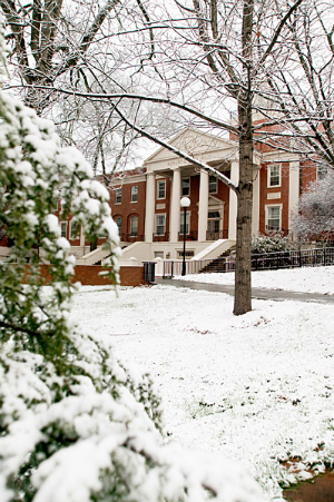 Park Hall in the Snow